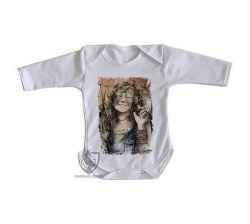 Roupa Bebê manga longa Janis Joplin