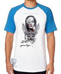 Camiseta Raglan Jogos Vorazes