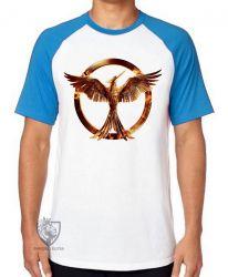 Camiseta Raglan Jogos Vorazes tordo dourado