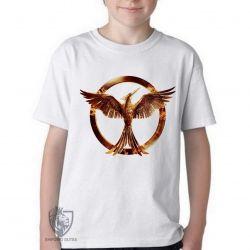 Camiseta Infantil Jogos Vorazes tordo dourado