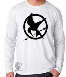 Camiseta Manga Longa Jogos Vorazes tordo preto