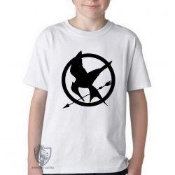Camiseta Infantil Jogos Vorazes tordo preto