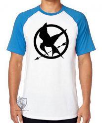 Camiseta Raglan Jogos Vorazes tordo preto