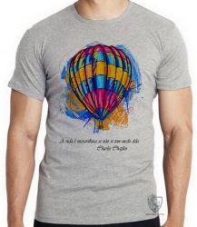 Camiseta Infantil Balão Charles Chaplin