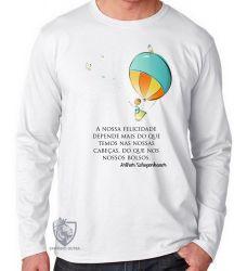 Camiseta Manga Longa Balão Arthur Schopenhauer