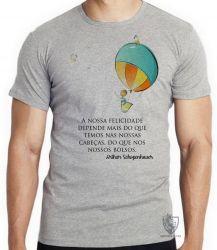 Camiseta Infantil Balão Arthur Schopenhauer