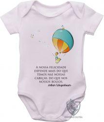 Roupa Bebê Balão Arthur Schopenhauer