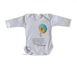 Roupa Bebê manga longa Balão Arthur Schopenhauer