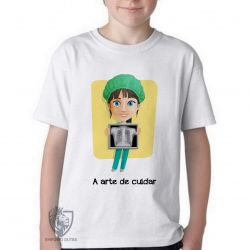 Camiseta Infantil A arte de cuidar