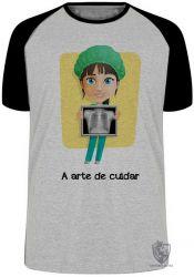 Camiseta Raglan A arte de cuidar