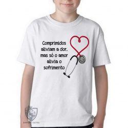 Camiseta Infantil Comprimidos aliviam