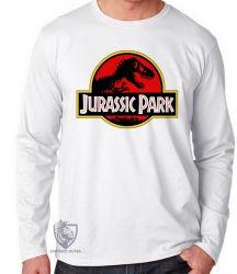 Camiseta Manga Longa Jurassic Park clássico