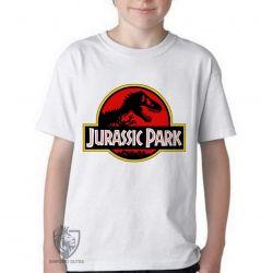 Camiseta Infantil Jurassic Park clássico