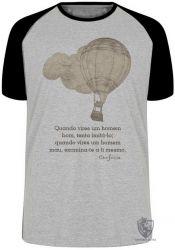 Camiseta Raglan frase Confúcio