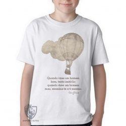 Camiseta Infantil frase Confúcio