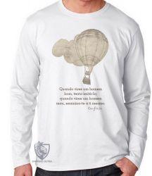 Camiseta Manga Longa frase Confúcio