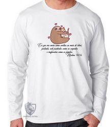 Camiseta Manga Longa Mateus 10 16