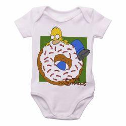 Body infantil Homer tamanho 6 a 12 meses