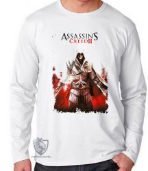 Camiseta Manga Longa Assassins Creed II