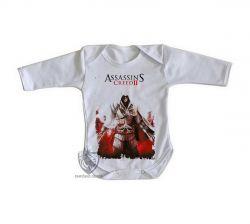 Roupa Bebê manga longa Assassins Creed II