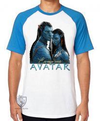 Camiseta Raglan  Avatar Eu vejo você