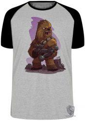 Camiseta Raglan  Chewbacca desenho