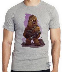 Camiseta Infantil Chewbacca desenho