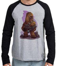 Camiseta Manga Longa Chewbacca desenho