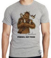 Camiseta Chewbacca friends not food