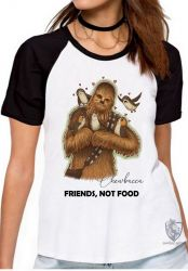 Blusa Feminina Chewbacca friends not food