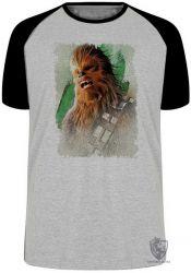 Camiseta Raglan Chewbacca gritando