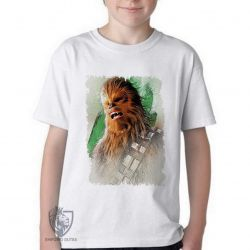 Camiseta Infantil Chewbacca gritando