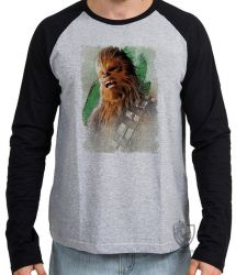 Camiseta Manga Longa Chewbacca gritando