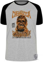 Camiseta Raglan Chewbacca kashyk