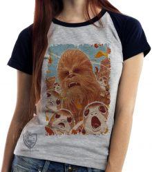 Blusa Feminina Chewbacca Porgs
