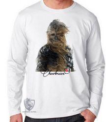 Camiseta Manga Longa Chewbacca vento