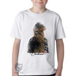 Camiseta Infantil Chewbacca vento