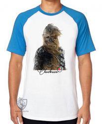 Camiseta Raglan Chewbacca vento
