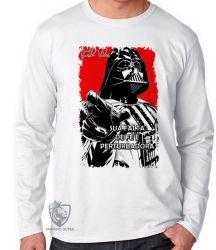 Camiseta Manga Longa Darth Vader fé