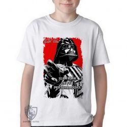 Camiseta Infantil Darth Vader fé