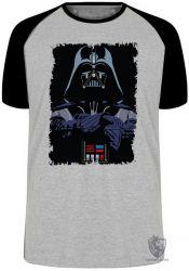 Camiseta Raglan Darth Vader preto