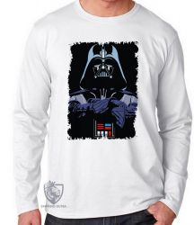 Camiseta Manga Longa Darth Vader preto