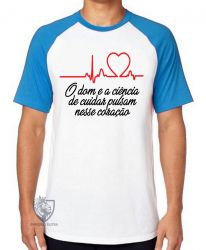 Camiseta Raglan Enfermagem dom ciência