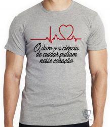 Camiseta Enfermagem dom ciência
