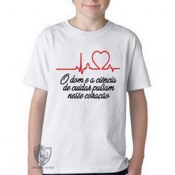 Camiseta Infantil Enfermagem dom ciência