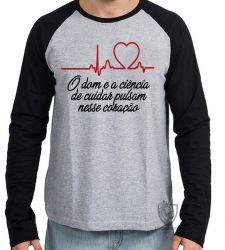 Camiseta Manga Longa Enfermagem dom ciência