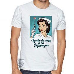 Camiseta Enfermagem injeção de amor