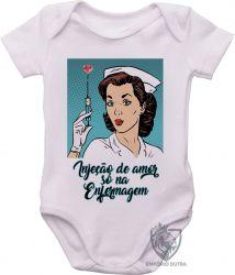 Roupa Bebê Enfermagem injeção de amor