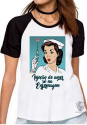 Blusa Feminina Enfermagem injeção de amor