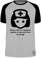 Camiseta Raglan Enfermagem nossa vida